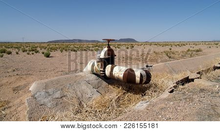 The Rusting Remains Of An Irrigation Control Valve For A Water Trench That Was For A Now Abandoned F