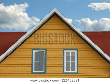 Colorful rooftop in Iles de la Madeleine in Canada