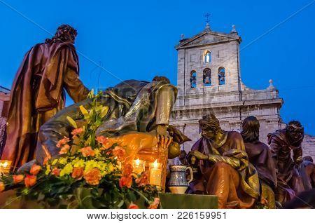 Palencia, Spain - March 24, 2016: Traditional Spanish Holy Week (semana Santa) Procession On Holy Th