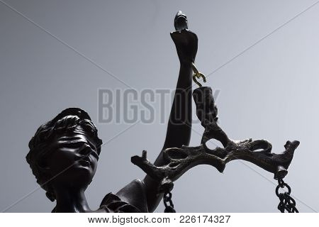 Legal Law Concept. The Statue Of Justice - Lady Justice.