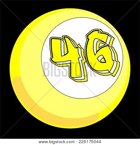 The Billiard Balls With The Yellow Number 46