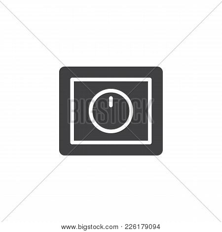 Light Dimmer Switch Icon Vector, Filled Flat Sign, Solid Pictogram Isolated On White. Symbol, Logo I