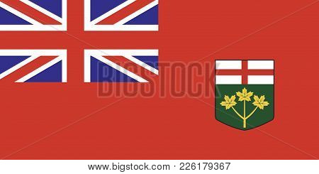 Canada Flag Ontario Vector Illustration Stock Image