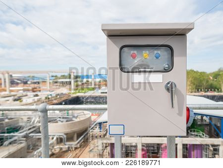 Electric Control Box At Factory Or Power Plant