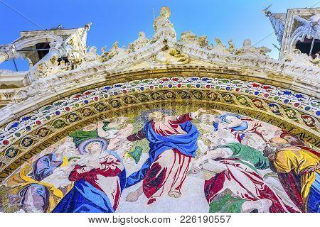 Christ Last Judgement Mosaic Saint Mark's Church Venice Italy