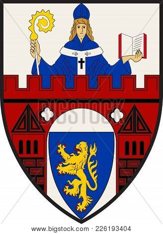 Coat Of Arms Of Siegen Is A City In Germany, In The South Westphalian Part Of North Rhine-westphalia