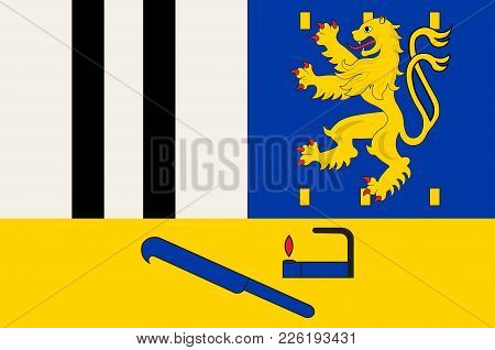 Flag Of Siegen-wittgenstein Is A District In The Southeast Of North Rhine-westphalia, Germany. Vecto