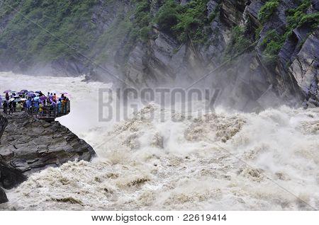 Wild River With Spectators