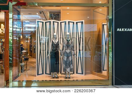 Tory Burch Shop At Emquatier, Bangkok, Thailand, Nov 3, 2017 : Luxury And Fashionable Brand Window D