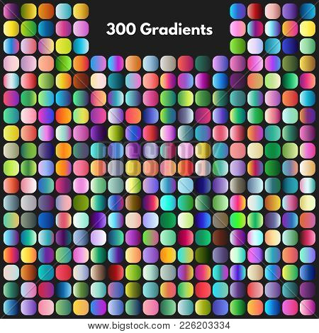 Vibrant Modern Gradient Swatches Vector Set. Illustration Of Color Collection Gradient, Colored Pale