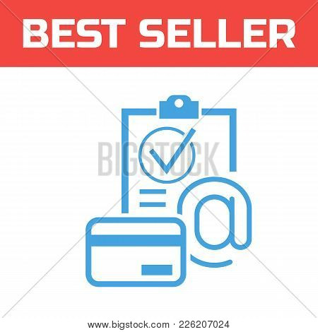 Marked Checklist Icon. Check Mark Icon. Compliance Vector Sign. Payment By Card