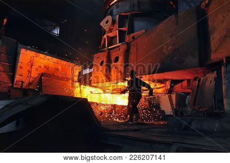 Heavy Industry Metallurgical Plant Metallurgist At Work