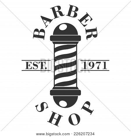 Barber Shop Pole. Hairdressing Saloon Icon Isolated On White Background. Barbershop Sign And Symbol.