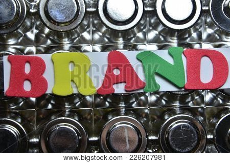 Word Bran Don An   Abstract Colored Background