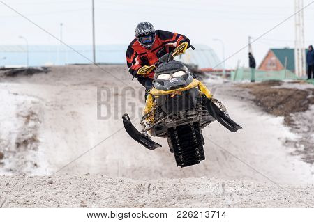 Tyumen, Russia - March 08. 2008: Iv Stage Of Personal-team Championship Of Ural Federal District In