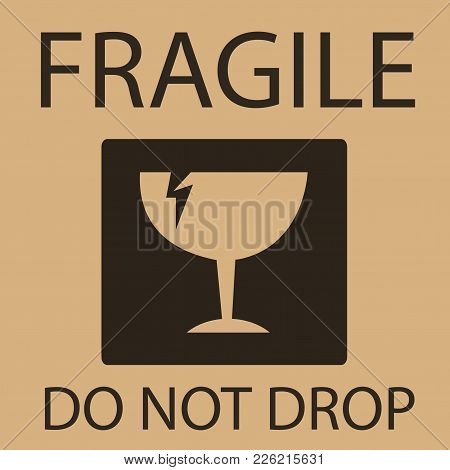 Fragile Or Breakable Material Packaging Symbol Illustration
