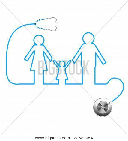 Stethoscope And Family
