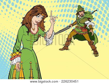 Lady In Medieval Dress. Girl Laughs At A Man. Laughing Princess. Medieval Legend. Medieval Woman. Ro