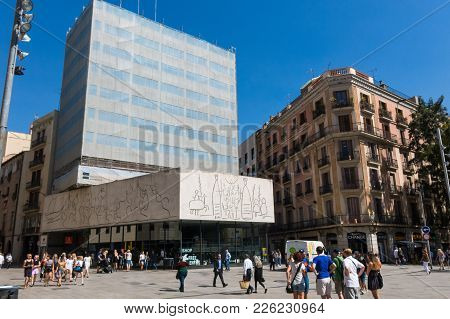 Pablo Picasso's Frize, Opposite The Cathedral. Barcelona, Spain