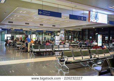 Hanoi, Vietnam - Mar 26, 2016:  Departure Lounge Of T1 International Terminal In Noi Bai Airport