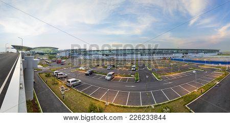 Hanoi, Vietnam - July 12, 2015: Panorama View Of Noi Bai International Airport, The Biggest Airport