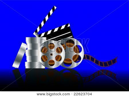 Film In Reel With Reflection