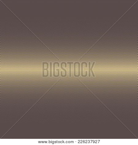 Geometric Modern Brown And Golden Pattern. Fine Ornament With Dotted Elements. Geometric Abstract Pa