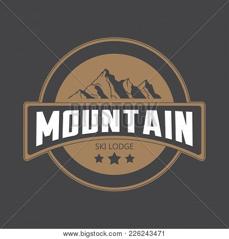 Mountains Logo Emblem Vector Illustration. Mountains And Travel Icon For Tourism Organizations