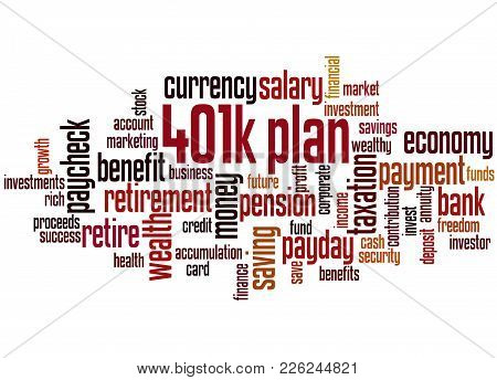 401K Plan Word Cloud Concept 4