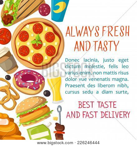 fast food menu poster vector photo free trial bigstock