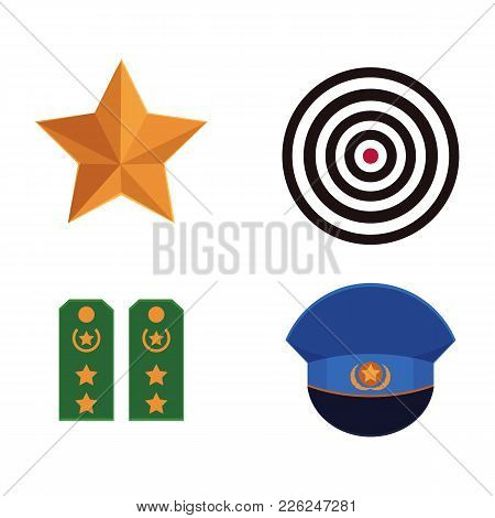 Vector Flat Army, Military, 23 Of February, Russian Defender Of The Fatherland Day Symbol Icon Milit