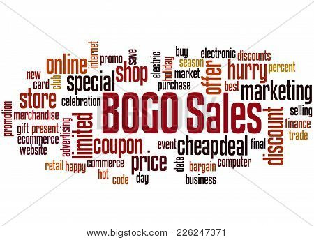Bogo Sales Word Cloud Concept 3