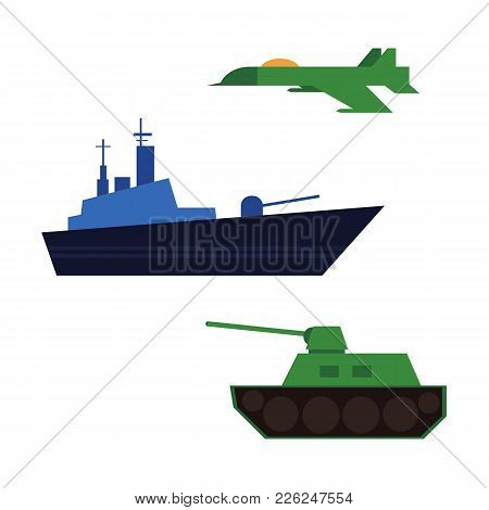 Vector Flat Army, Military, 23 Of February, Russian Defender Of The Fatherland Day Symbol Icon Warsh