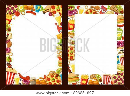 fast food menu design vector photo free trial bigstock