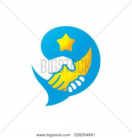 Hand Shake Business. Isolated On A White Background