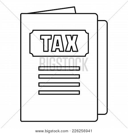 Tax Icon. Outline Illustration Of Tax Vector Icon For Web