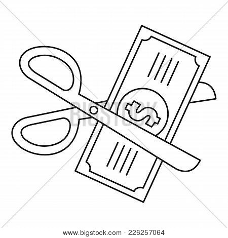 Money For Tax Icon. Outline Illustration Of Money For Tax Vector Icon For Web