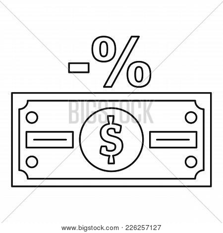 Pay Tax Icon. Outline Illustration Of Pay Tax Vector Icon For Web