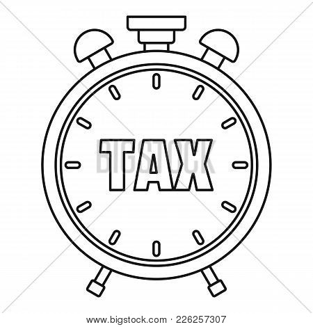 Time Tax Icon. Outline Illustration Of Time Tax Vector Icon For Web