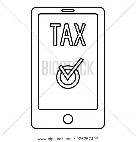 Payment Tax Icon. Outline Illustration Of Payment Tax Vector Icon For Web