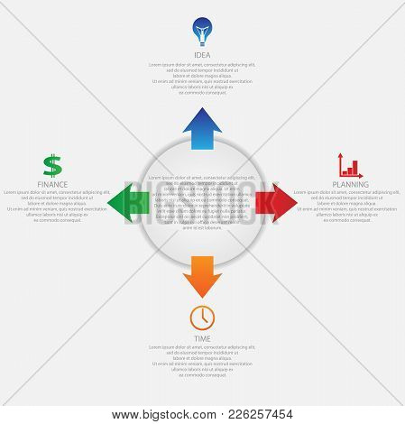 Business Template For Presentation. The Concept Of Presenting And Implementing A Business Idea.