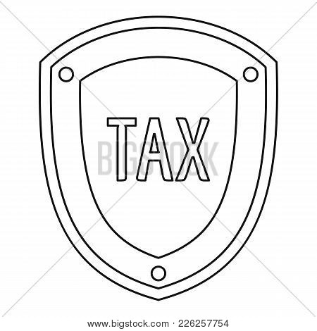 Tax Protection Icon. Outline Illustration Of Tax Protection Vector Icon For Web