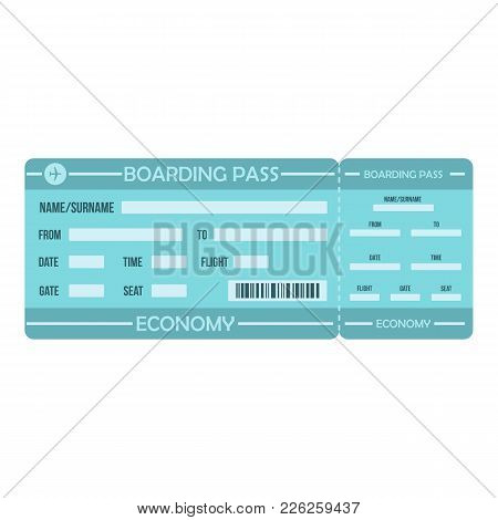 Boarding Pass Icon. Flat Illustration Of Boarding Pass Vector Icon For Web