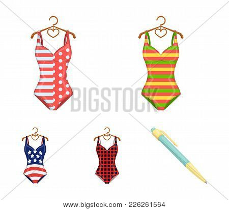 Different Kinds Of Swimsuits. Swimsuits Set Collection Icons In Cartoon Style Vector Symbol Stock Il