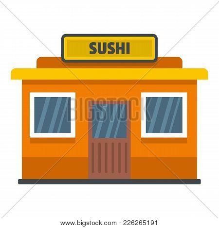 Sushi Shop Icon. Flat Illustration Of Sushi Shop Vector Icon For Web
