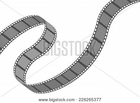 Filmstrip Roll. Cinema And Movie Element Or Object. Vector Illustration Isolated On The White Backgr