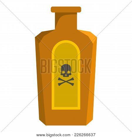 Poison Bottle Icon. Cartoon Illustration Of Poison Bottle Vector Icon For Web