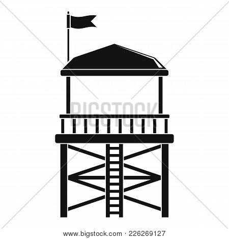 Rescue Tower Icon. Simple Illustration Of Rescue Tower Vector Icon For Web