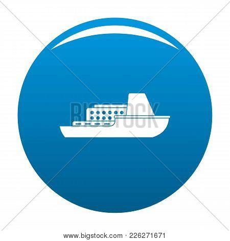 Ship Cruise Icon Vector Blue Circle Isolated On White Background