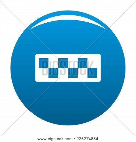 Taxi Cab Icon Vector Blue Circle Isolated On White Background
